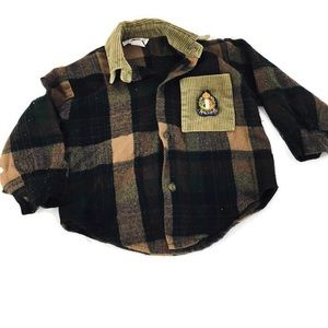 Vintage Just Kids Flannel plaid button down shirt